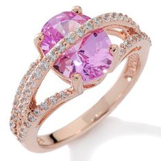3.40CT Pink Sapphire & White Lab Diamond Engagement Ring in 14K Gold Sizable #Affynityfashionjewelry #Solitaire