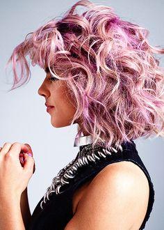 "prettymysticfalls: """" Emily Bett Rickards for Mane Addicts "" "" Emily Bett Rickards, Ombre Hair, Pink Hair, Pink Red Lipstick, Red Lipsticks, Wattpad, Super Hair, Hair Today, Trendy Hairstyles"