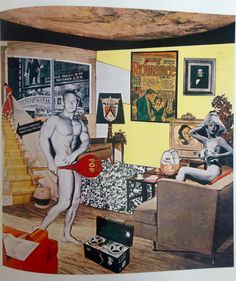 Pop Art.Richard Hamilton. Just what is it that makes today's homes so different, so appealing? 1956 Kunsthalle, Tübingen, Allemagne