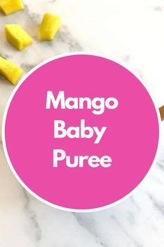 The best first mango baby puree. #mango #babypuree #mangopuree #babyfood #babyfoodidea Baby Puree Recipes, Pureed Food Recipes, Baby Food Recipes, Dinner Recipes, 8 Month Old Baby Food, Baby Meal Plan, Baby Breakfast, Baby Feeding Schedule, Healthy Baby Food