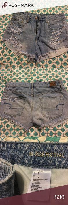 American Eagle shorts AE destroyed hi-rise festival jean shorts American Eagle Outfitters Shorts Jean Shorts