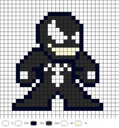 Venom Perler Bead Pattern