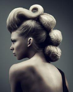 55 New ideas hair art hairstyles updo Creative Hairstyles, Trendy Hairstyles, Avant Garde Hairstyles, Fashion Hairstyles, Weird Hairstyles, Fantasy Hairstyles, Medium Hairstyles, Wedding Hairstyles, Hair Inspo