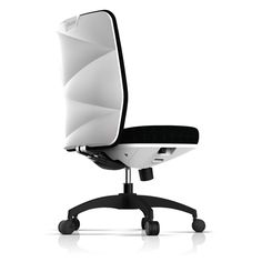 Details we like / Office Chair / White / Plastic Back / Pattern / Modern / Furniture / at plllus
