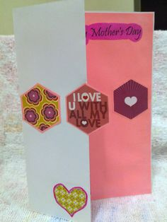 Easy Homemade Mother's Day Half Fold Card