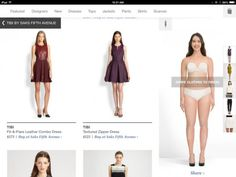 My @FASHIONOTES post: SAKS FIFTH AVENUE launches a virtual fitting room app with your own 'body' avatar. How cool!