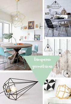 Inspiración para el techo: Lámparas geométricas