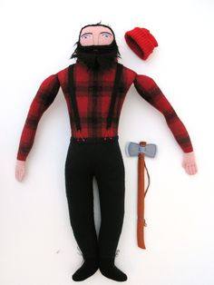 lumberjack doll by Mimi Kirchner