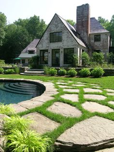 Find This Pin And More On Beautiful Outdoor Spaces By Jwbridges. Stones Set  In Grass