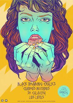 black drawing chalks poster - bicicleta sem freio