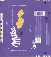 Schokoladen-Papier/Chockolate-Paper Milka 1990er Die Weiße