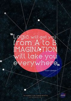 IMAGINATION. Logic will get you from A to B. Imagination will take you everywhere. Albert Einstein
