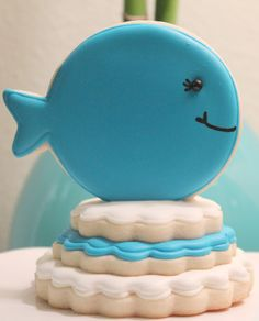 Balloon cookie cutter used as fish or whale