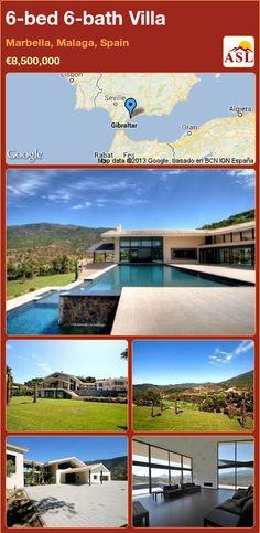 Villa for Sale in Marbella, Malaga, Spain with 6 bedrooms, 6 bathrooms - A Spanish Life Marbella Malaga, Malaga Spain, Function Room, Billiard Room, Home Cinemas, Country Estate, Maine House, Wine Cellar, Open Plan