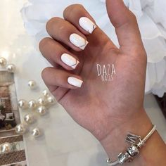 Evening french manicure, Evening nails, Exquisite nails, French manicure ideas…
