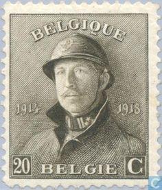 Belgium [BEL] - King Albert I (with helmet) 1919