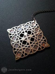 Geometric Pendant 6  sterling silver and by JeanBurgersJewellery, $380.00