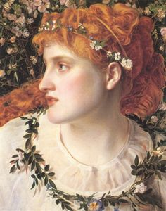 Perdita by Anthony Frederick Augustus Sandys (1829–1904) Shakespeare's The Winter's Tale
