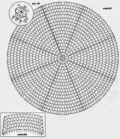 gorras a crochet con patrones ile ilgili görsel sonucu Crochet Diagram, Crochet Chart, Crochet Motif, Crochet Designs, Crochet Doilies, Crochet Stitches, Crochet Girls, Crochet Round, Double Crochet