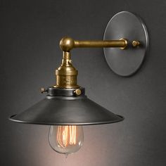 American vintage wall lamp indoor lighting bedside lamps wall lights for home  diameter 22cm 110V/220V E27-inWall Lamps from Lights & Lighting on Aliexpress.com | Alibaba Group
