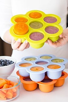 Silicon Baby Food Freezer Tray with Free Infant Spoon