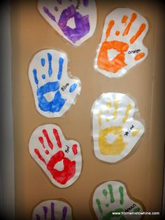 Teaching your toddler colors with high-fives! - From Wine to Whine
