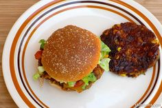 This super food burger is crispy on the outside and soft on the inside.