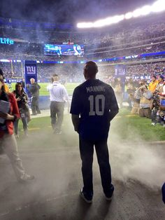 Mariano Rivera before heading out for the coin flip at the Giants game on Oct. 21st, 2013