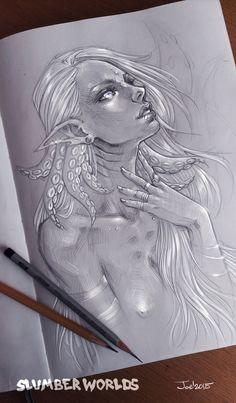 Comm: Girl with tentacles by sashajoe.deviantart.com on @DeviantArt