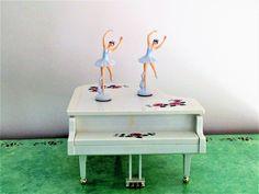 Vintage Ballerina Musical Piano Dancing Ballerinas Magic | Etsy Music Box Ballerina, Vintage Ballerina, Little Ballerina, Piano Keys, Piano Music, White Piano, Cocker Spaniel Dog, Tiny Dancer, Ready To Play