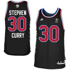 Western Conference Stephen Curry adidas Black 2015 NBA All-Star Game Swingman Jersey