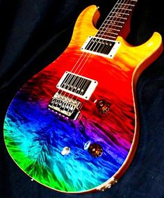 Rainbow colors ❖de l'arc-en-ciel❖❶Toni Kami Colorful Paul Reed Smith Prism guitar