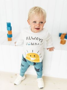 Baby Boys' T-shirts Toddler Boy Fashion, Toddler Boys, Kids Boys, Baby Kids, Kids Fashion, Cute Kids, Cute Babies, Baby Boy Outfits, Kids Outfits