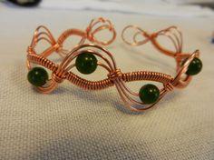 Wire Wrap Bracelet by NaturalAlaska on Etsy