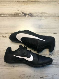 14872755ead Nike Zoom Rival S 9 Track Shoes Men s Sz 7 Sprint Spikes Black 907564-001
