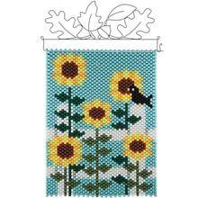 Herrschners®  Sunflower Triptych Center Panel  Beaded Banner Kit - Herrschners