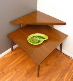 1950s or 60s Atomic Mid Century TwoTier Walnut by BlueSugarVintage, $67.00