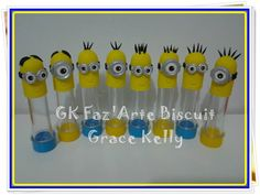 TUBETES OS MINIONS BISCUIT GK FAZ'ARTE BISCUIT contatos: gkfc10@bol.com.br Facebook: https://www.facebook.com/pages/Gk-FazArte-Bicuit/326554420704538