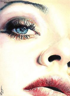 Realistic Portraits by Christina Papagianni - colored pencil