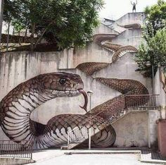 """""""The next level! Amazing Street art in Guarda, Portugal Artist: Sfhir"""" 3d Street Art, Street Art Banksy, Amazing Street Art, Amazing Art, Amazing Things, Beautiful Things, Awesome, Photographie Street Art, Graffiti Kunst"""