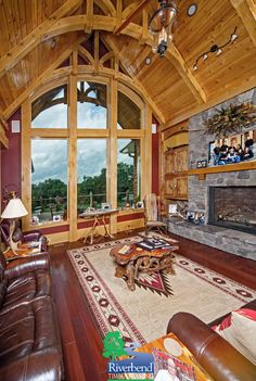 great room i michigan custom timber frame homes i riverbend timber framing