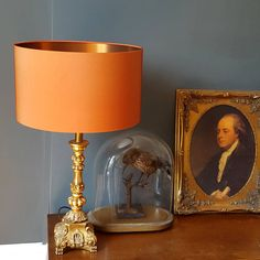 Beautiful handmade drum lampshades using a beautiful copper coloured fabric and our new brushed copp Copper Lampshade, Lampshades, Bedroom Color Schemes, Colour Schemes, Copper Dining Room, Orange Lamps, Beige Living Rooms, Bedroom Orange, Grey Room