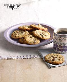 Biscuits au pouding à la vanille et aux morceaux de chocolat #recette
