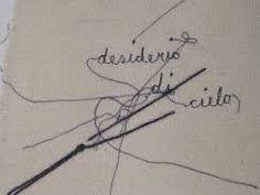 'Desiderio' artwork from Maria Lai. Bellissimo. See website of 'the museo d'arte contemporanea' of Ulassai .  http://www.stazionedellarte.it/