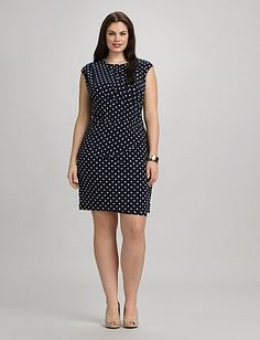 I ordered this  Plus Size Draped Polka Dot Dress | Dressbarn