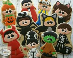 The Cookie Lady:  Halloween costume kids.  Designs by Kristi W of Cutsie Wootsie Designz.  Cutest cookies ever!