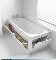 Stowaway Tub: Talk about a hiding spot... More