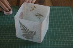 DIY Thanksgiving Decor: Pressed Flower Luminarias The Gardener | Apartment Therapy