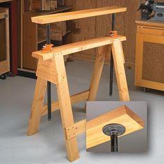 Adjustable Sawhorses | Woodsmith Tips::