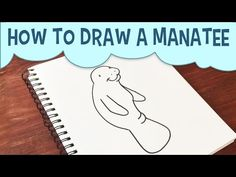 how to draw a manatee easy step by step